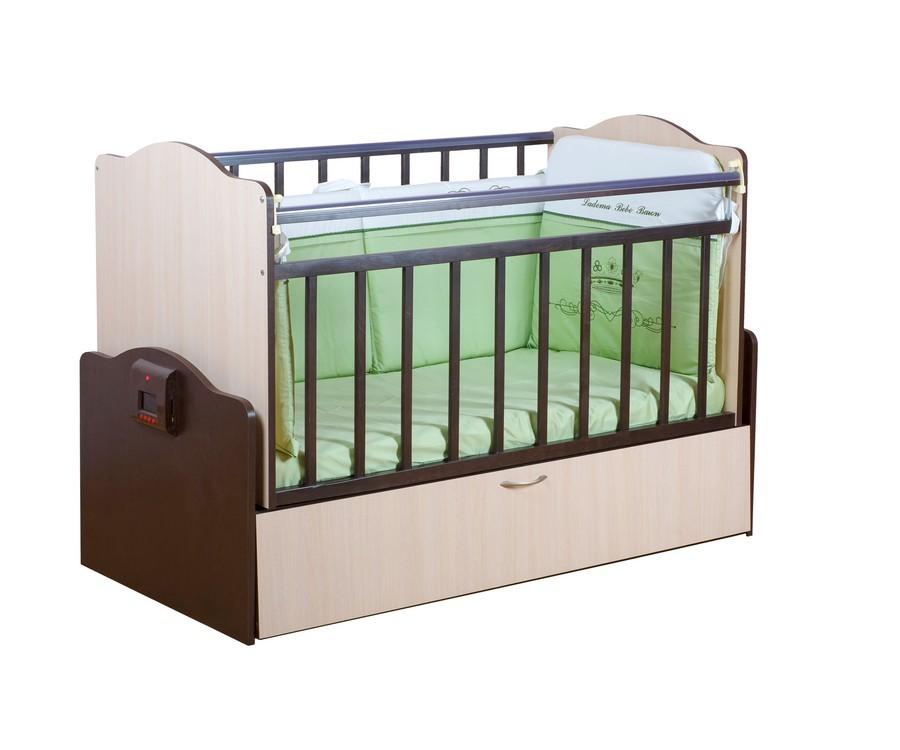 Кроватка для новорожденного дуб