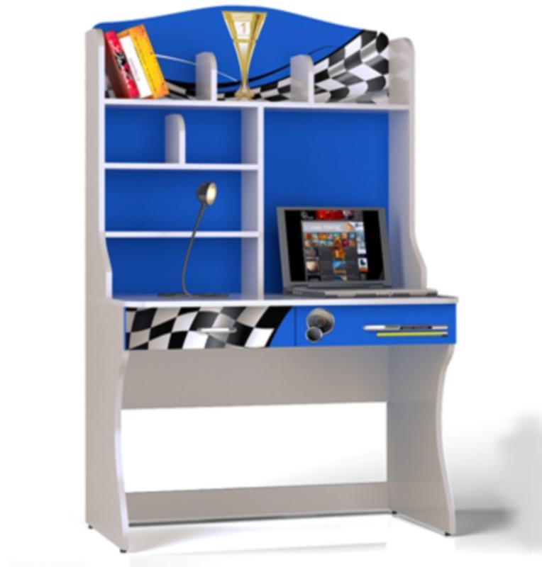 Стол письменный с надстройкой для книг formula синий для мал.