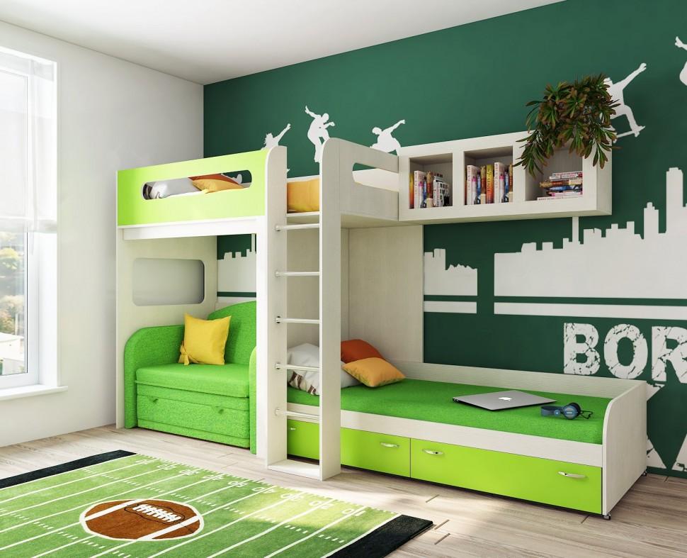 комната для двоих разнополых детей
