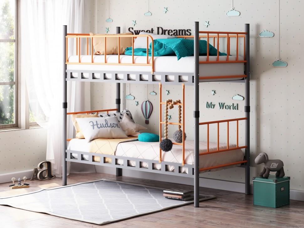 двухьярусная кровать для двоих детей